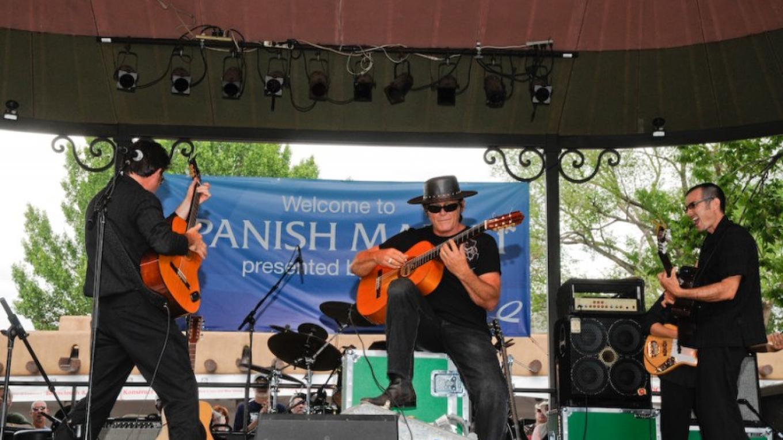 Musicians on Stage, Spanish Market, Santa Fe Plaza