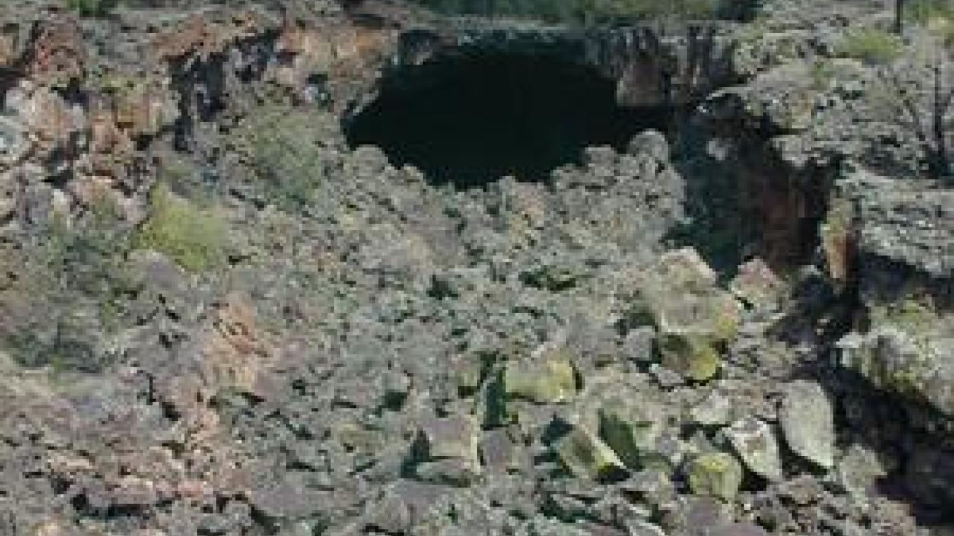 A lava tube in the Big Tubes Area – blm.gov