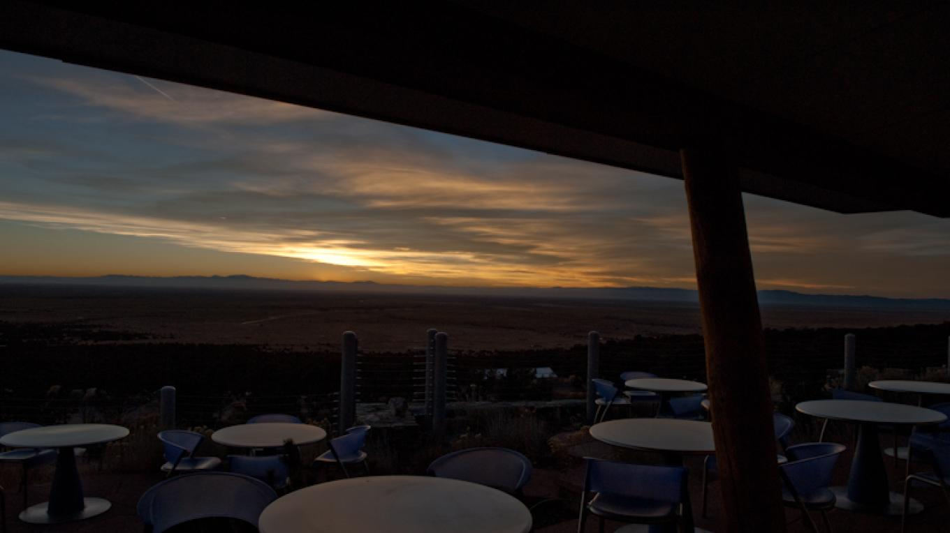 A great place to watch the sunset!  50 mile Western View to sunset over the San Juan Mountains. – Matthew Crowley