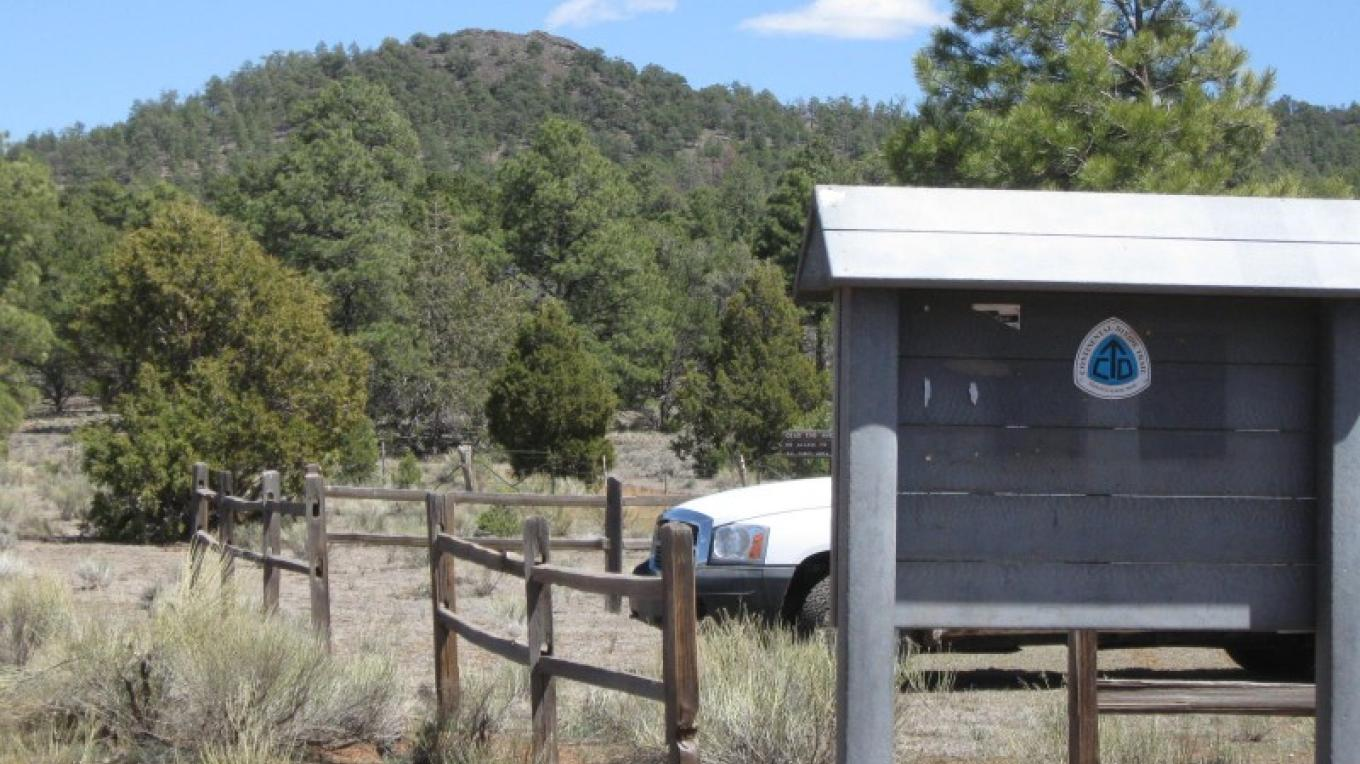 Cerro Rendija Trailhead for CDT, 6 miles south of NM 53. – Steve Owen