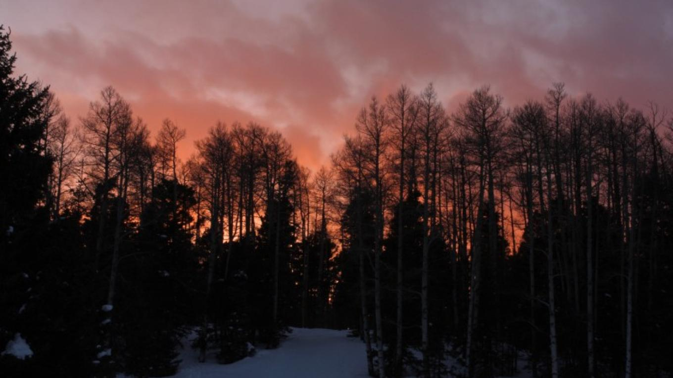 Sunset from the day lodge – Ellen Miller-Goins
