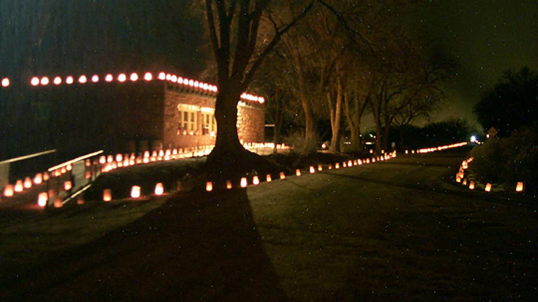 Annual December luminaria