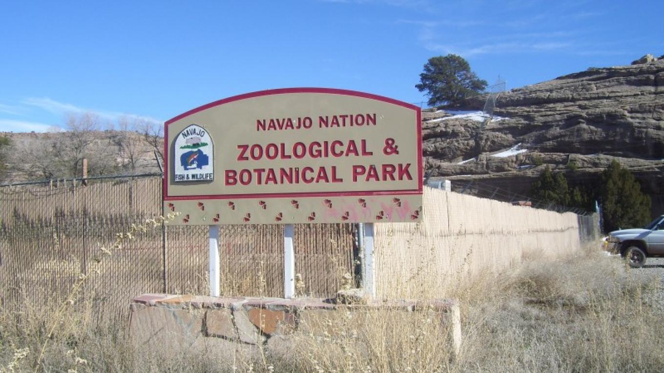 Entrance to Navajo Nation Zoo – Valcita Thompson
