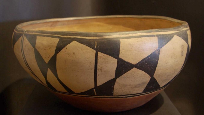 "Unsigned Dough Bowl c. 1890, Santo Domingo Pueblo ""Kewa"", NM – Derek Fisher"