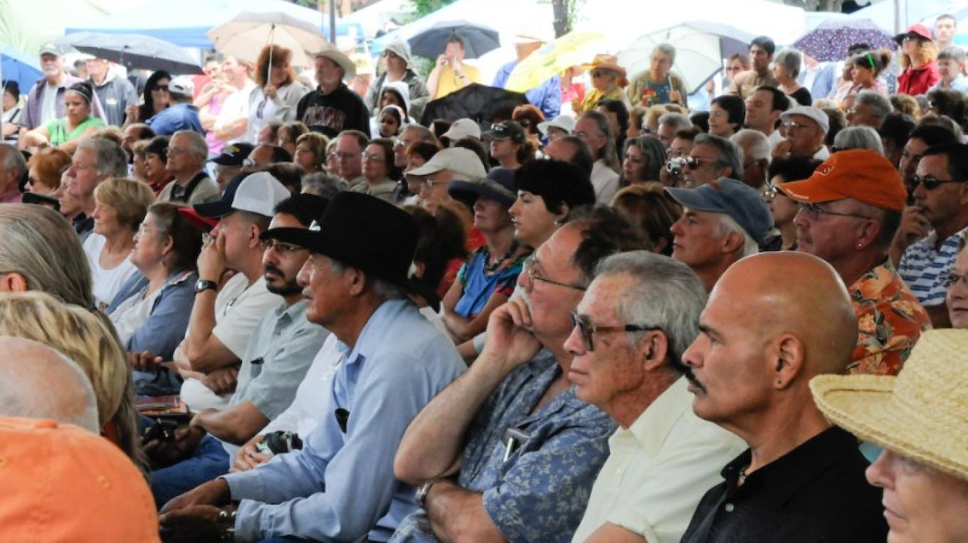 Audience in Front of the Stage, Spanish Market, Santa Fe Plaza – Gene Peach