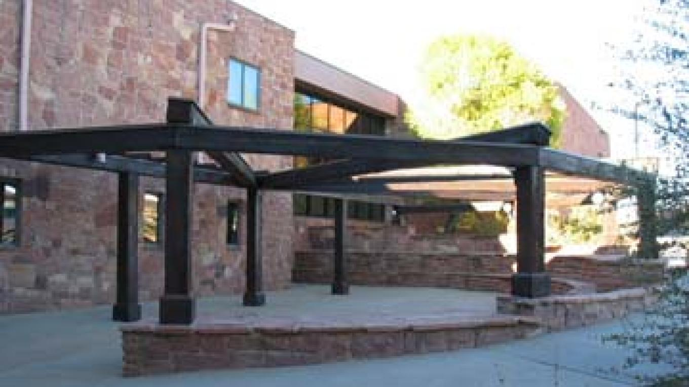 Amphitheater at Edge of the Cedars Museum. Home of the Four Corners Indian Arts Festival, the first Saturday of May. – T. Paul