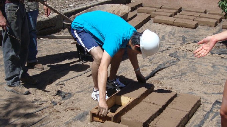 Making adobe bricks – Nicolas Minos