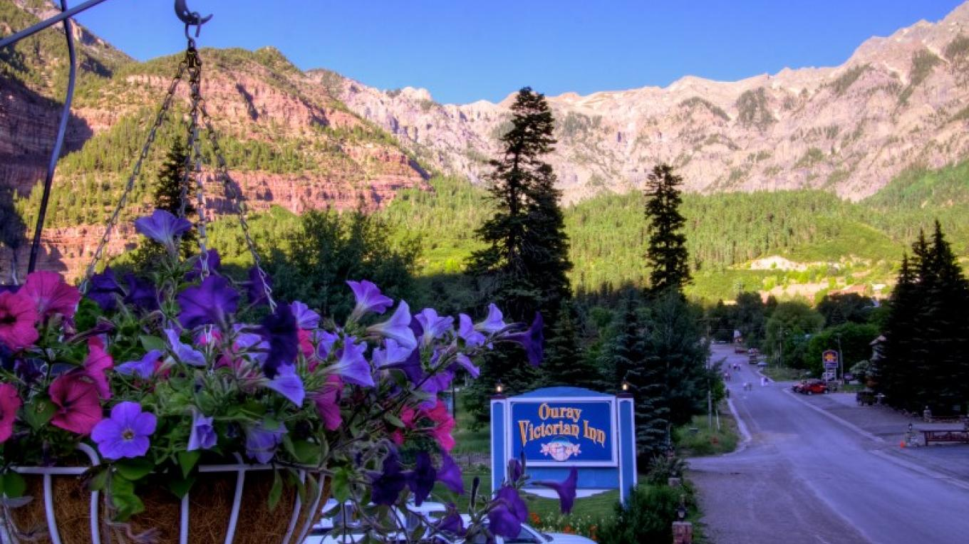 View from the rooms – Ouray Victorian Inn