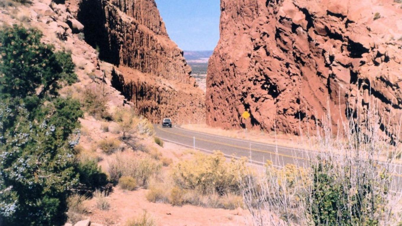 Driving through Comb Ridge on Utah Highway 95 west of Blanding. – Coyotes Singing Studio