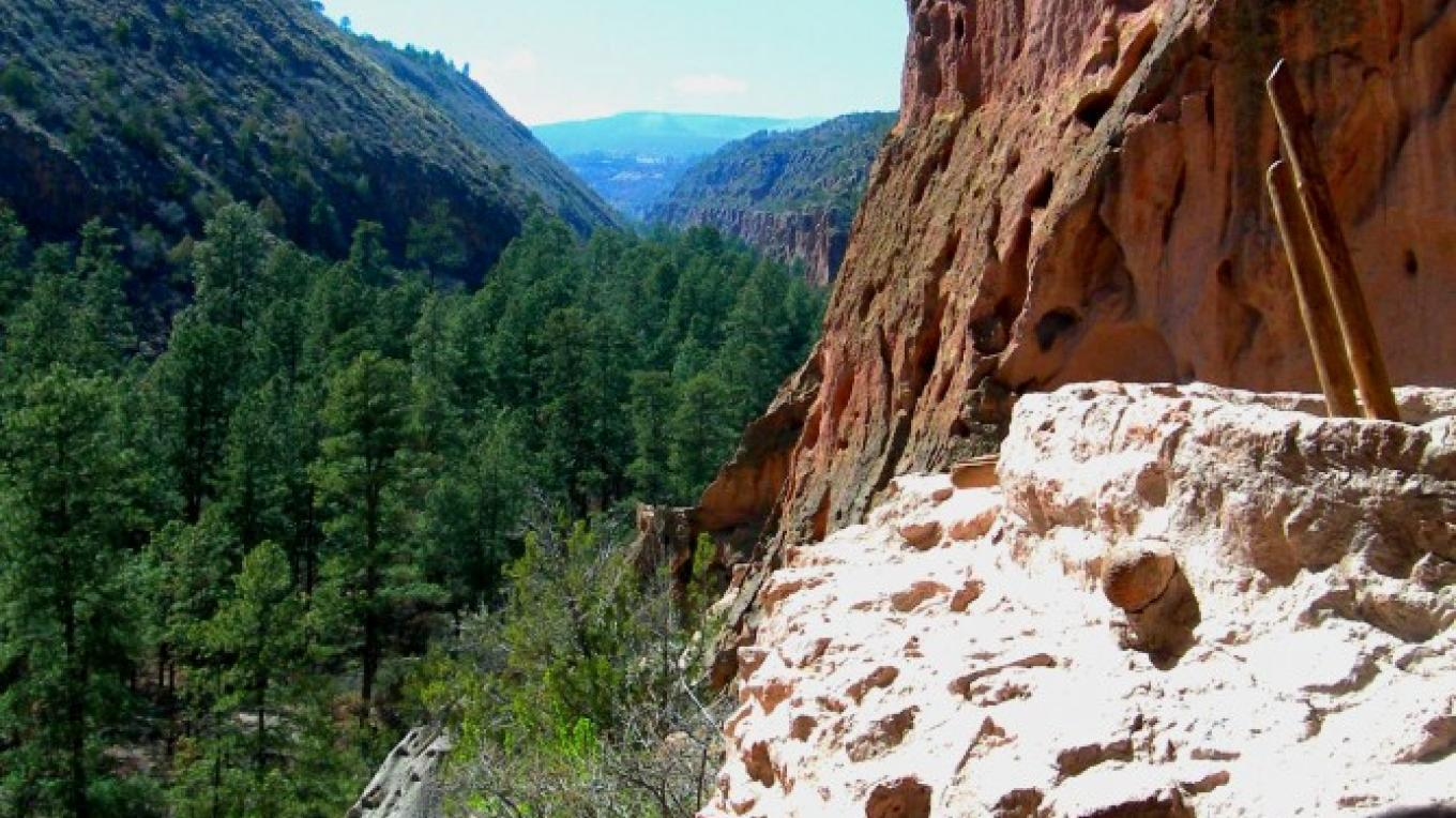 Frijoles Canyon from Kiva overlook – Jim O'Donnell