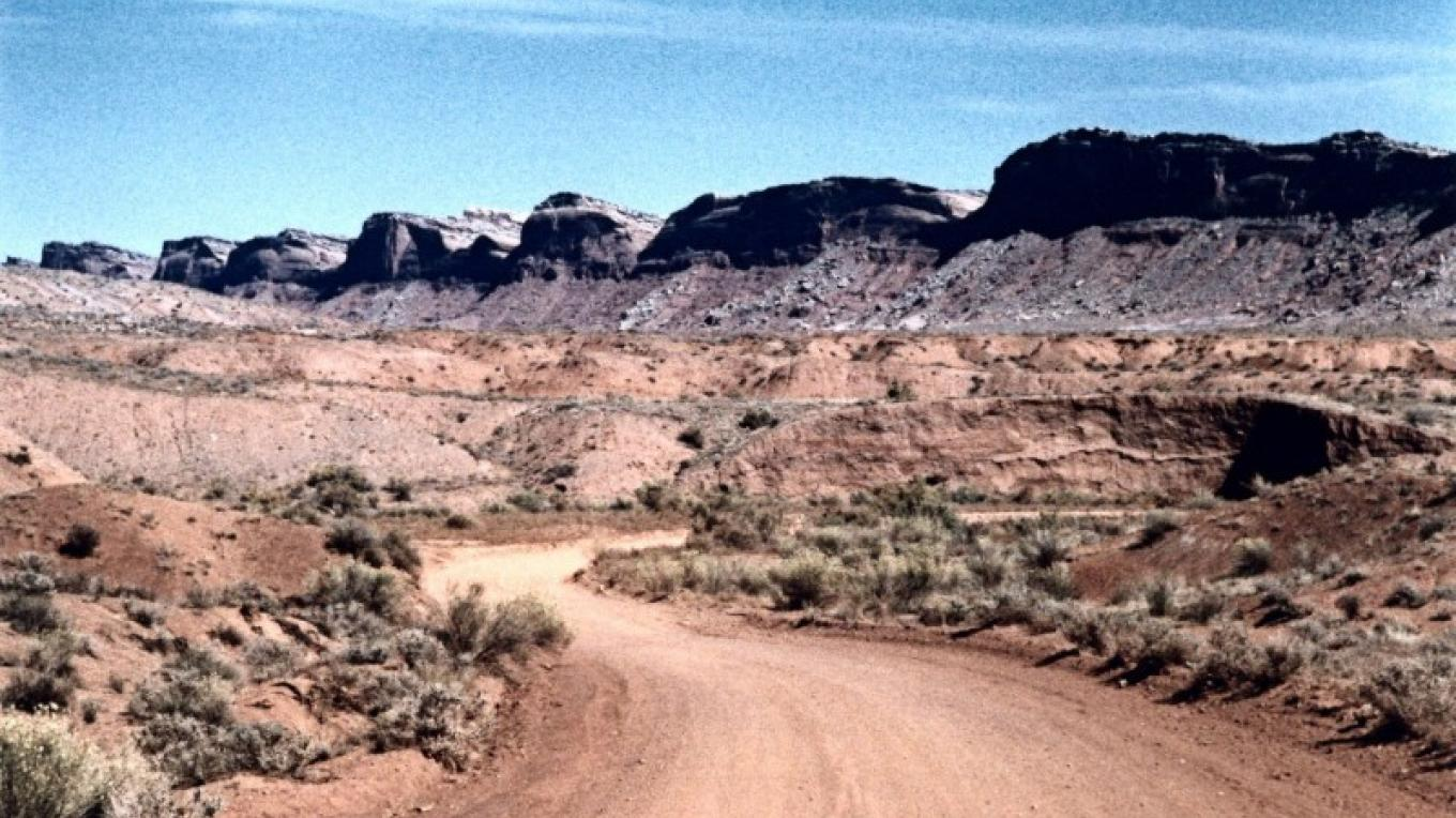 Comb Ridge as seen from US Highway 163 west of Bluff, Utah. – Coyotes Singing Studio