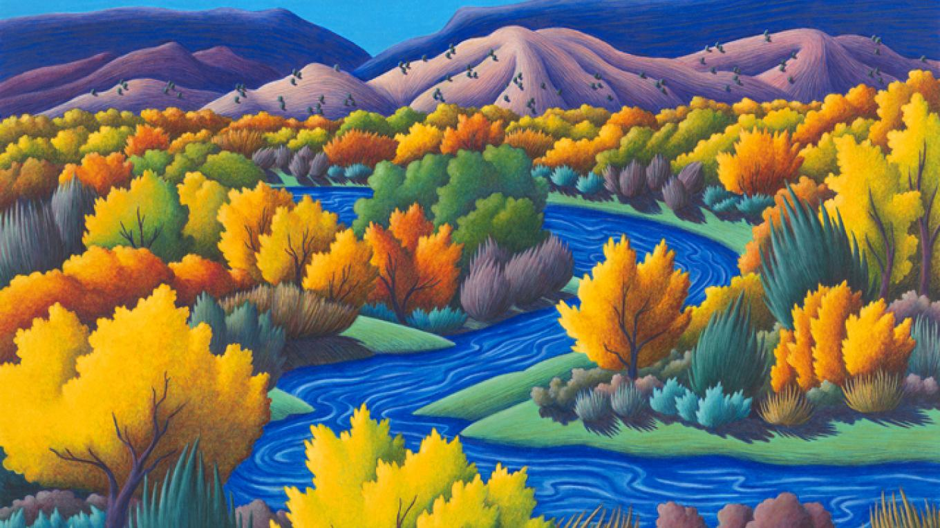 Autumn River by Reina