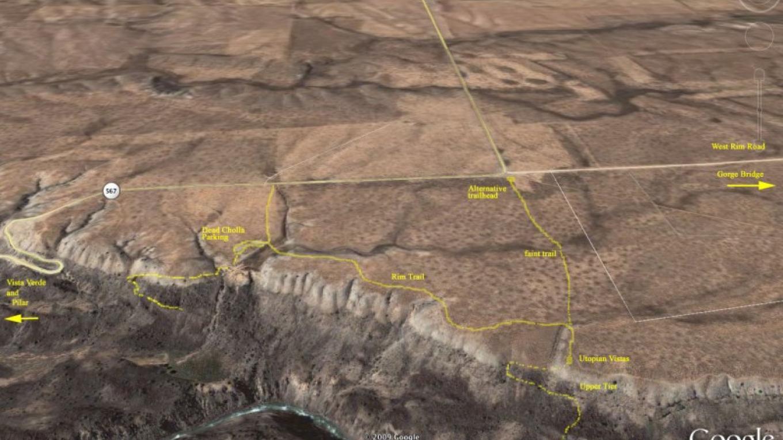 Google map view of climbing areas – mjh