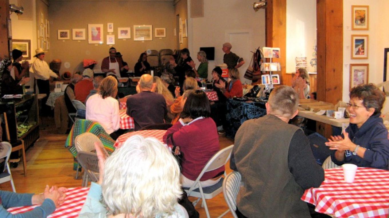 "A Community ""May Day"" Celebration Dinner at the Old School Gallery – Kirk Shoemaker"