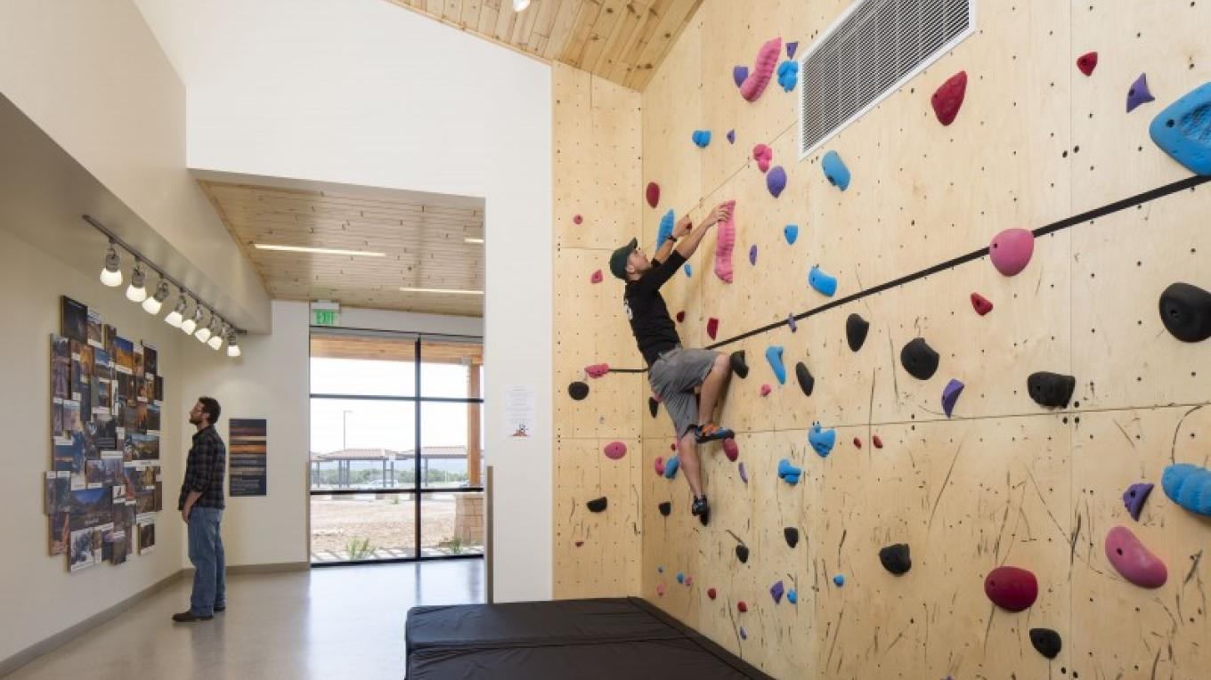 Bouldering wall - great for energy burn – Four Corners School of Outdoor Education