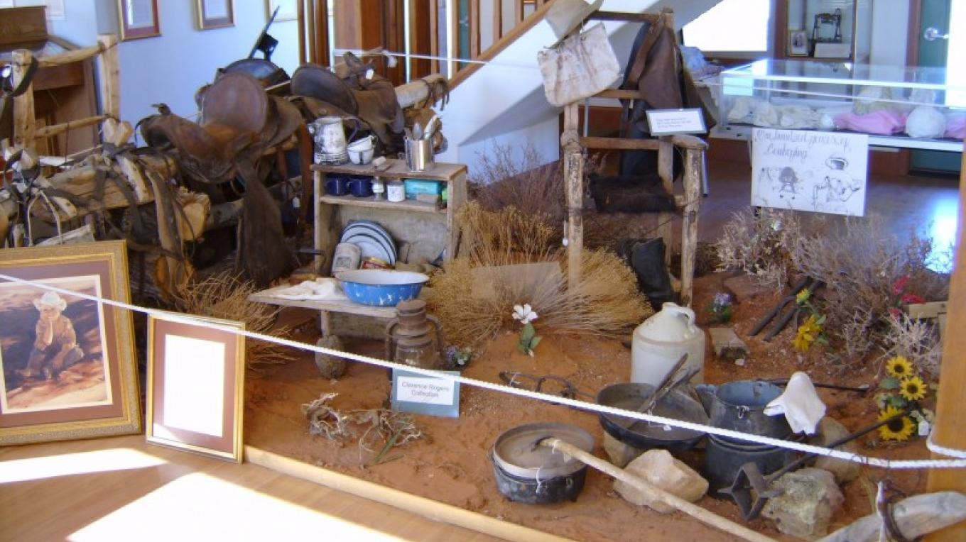 The Pioneer Museum Cowboy/Ranching display. – S. Taylor