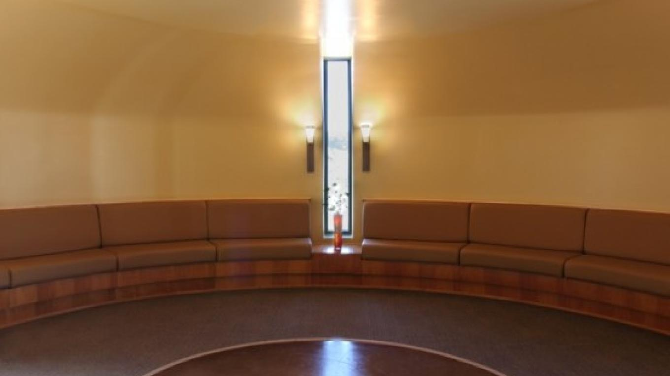 One of our many circular meditation rooms.