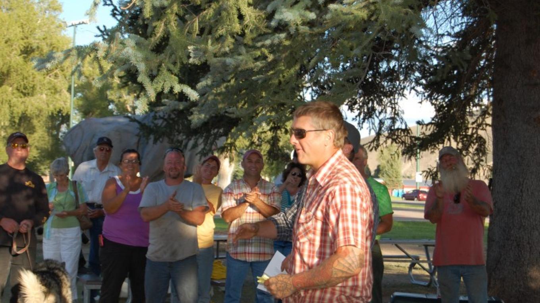 Ken accepting award at Gunnison, Colorado Competition. – Ken G Braun Jr