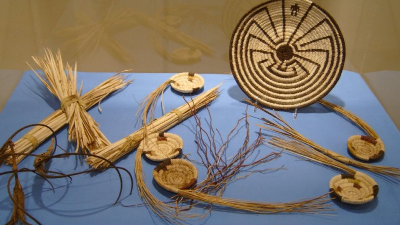 A display of basketry. – S. Taylor