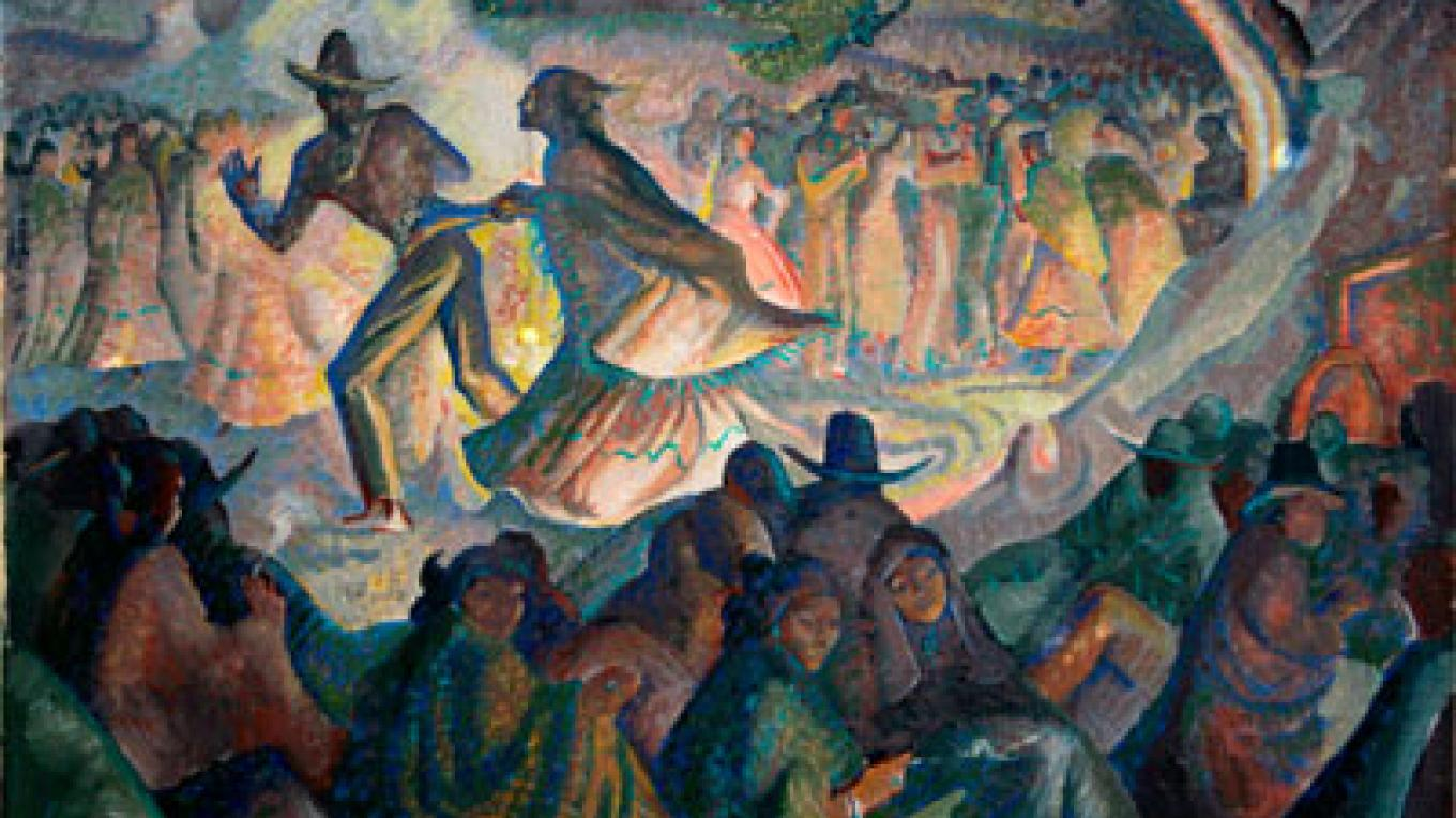 WPA Painting by Lloyd Moylan – McKinley County Arts Committee
