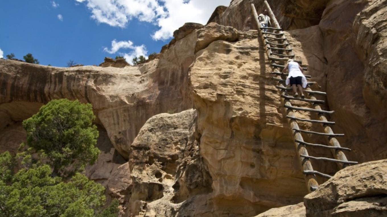 Climbing Ladder at Eagles Nest – Eric Lindberg