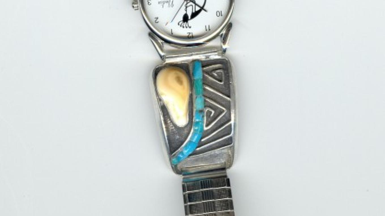 Ada elk tooth watchband – Tiki Carpenter