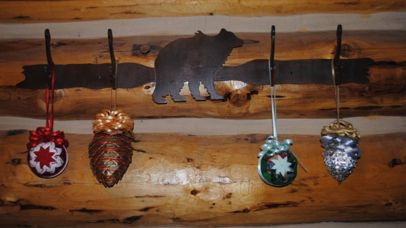 Hand-sewn ornaments and pine cone ornaments – Jake LaFore