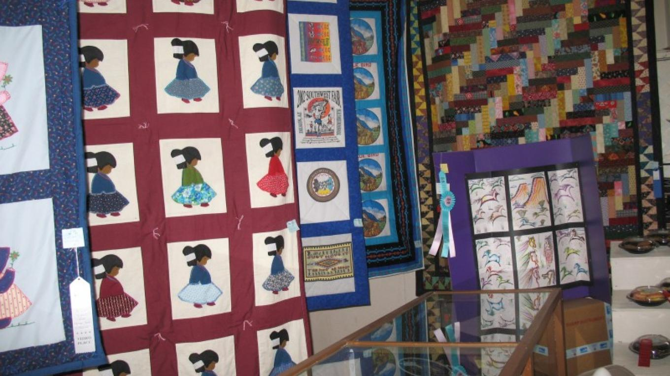 Navajo Quilts in Home Arts & Science exhibition – Kathie Curley