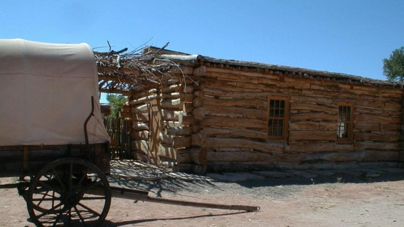 Replica of Meeting House in the community of Bluff. – S. Taylor