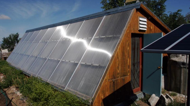 Passive Solar Greenhouse exterior