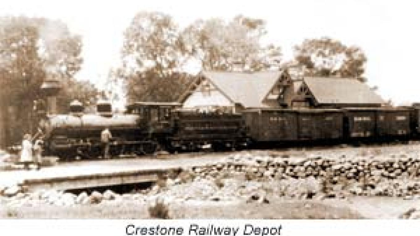 Crestone's railroad during early mining days