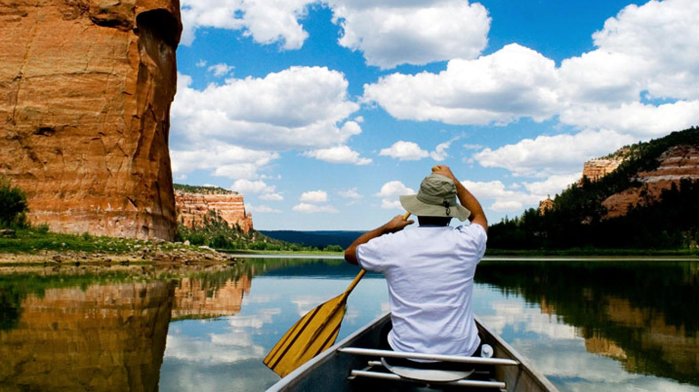 Canoeing on Ramah Lake – Brian Leddy - Photo Journalist - Gallup, New Mexico