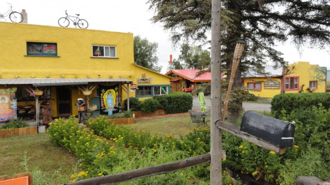 "The front of the ""Organic Peddler and the ""La Casita Bonita"" – KimAnna Cellura-Shields"