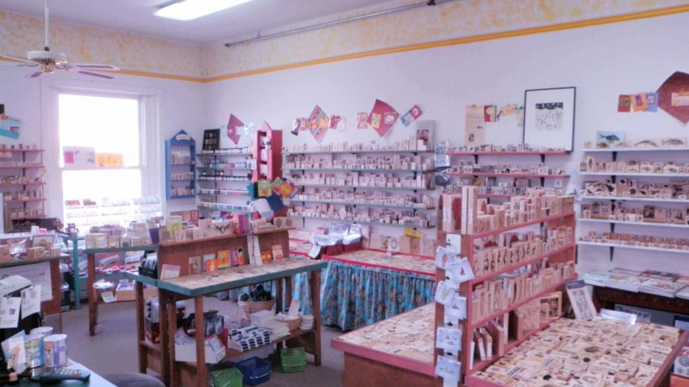Interior view of Guadalupe's Fun Rubber Stamps, Santa Fe, NM – Lee Kellogg