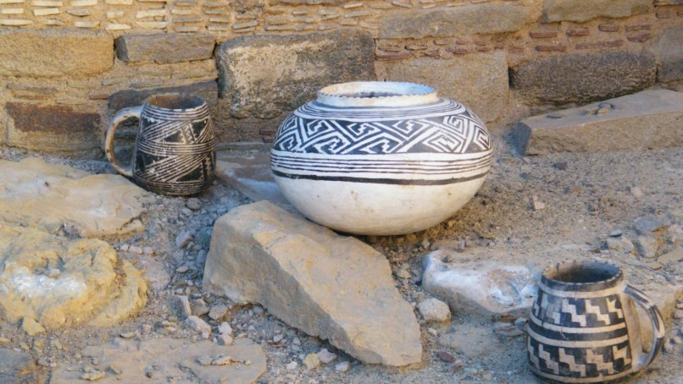 Ceramic Vessels found during excavations. – Larry L Baker