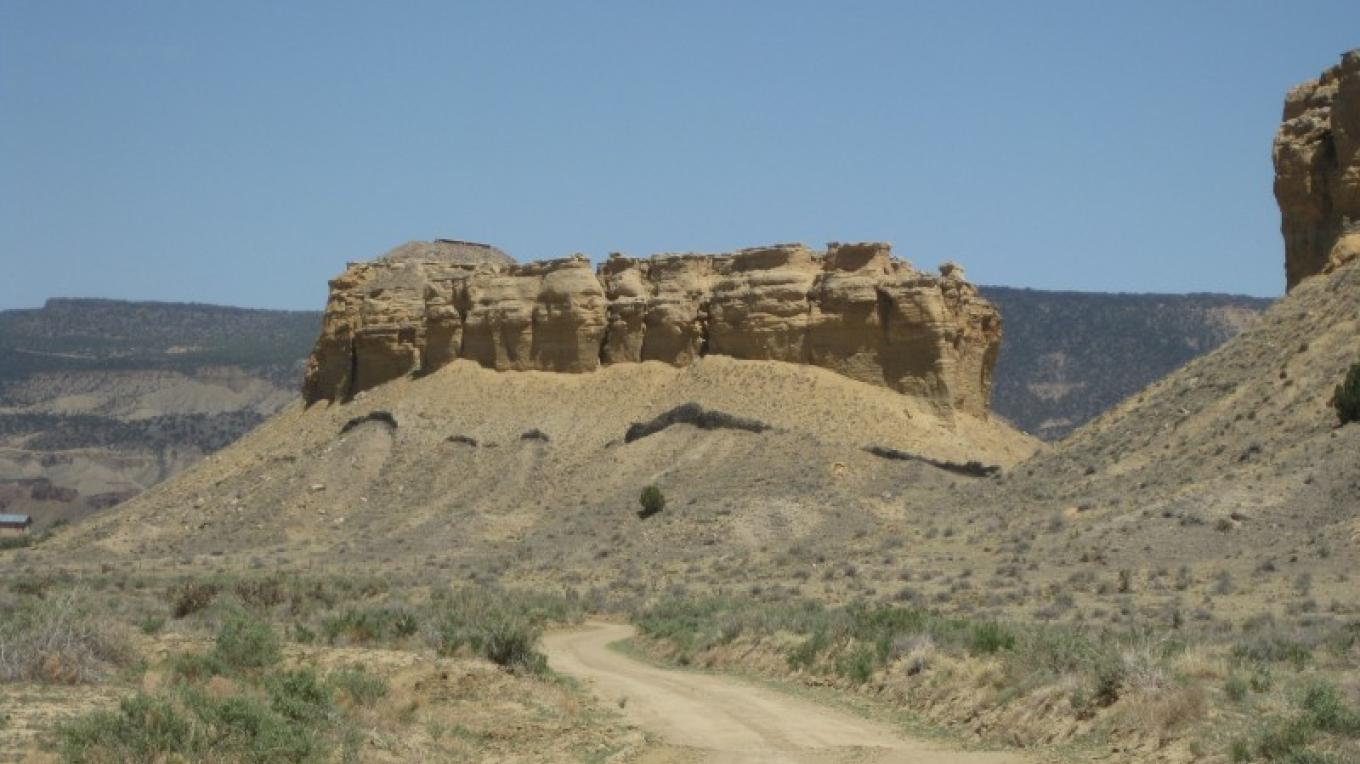 Guadalupe Ruin sits on top of this steep mesa. – Gretchen Obenauf
