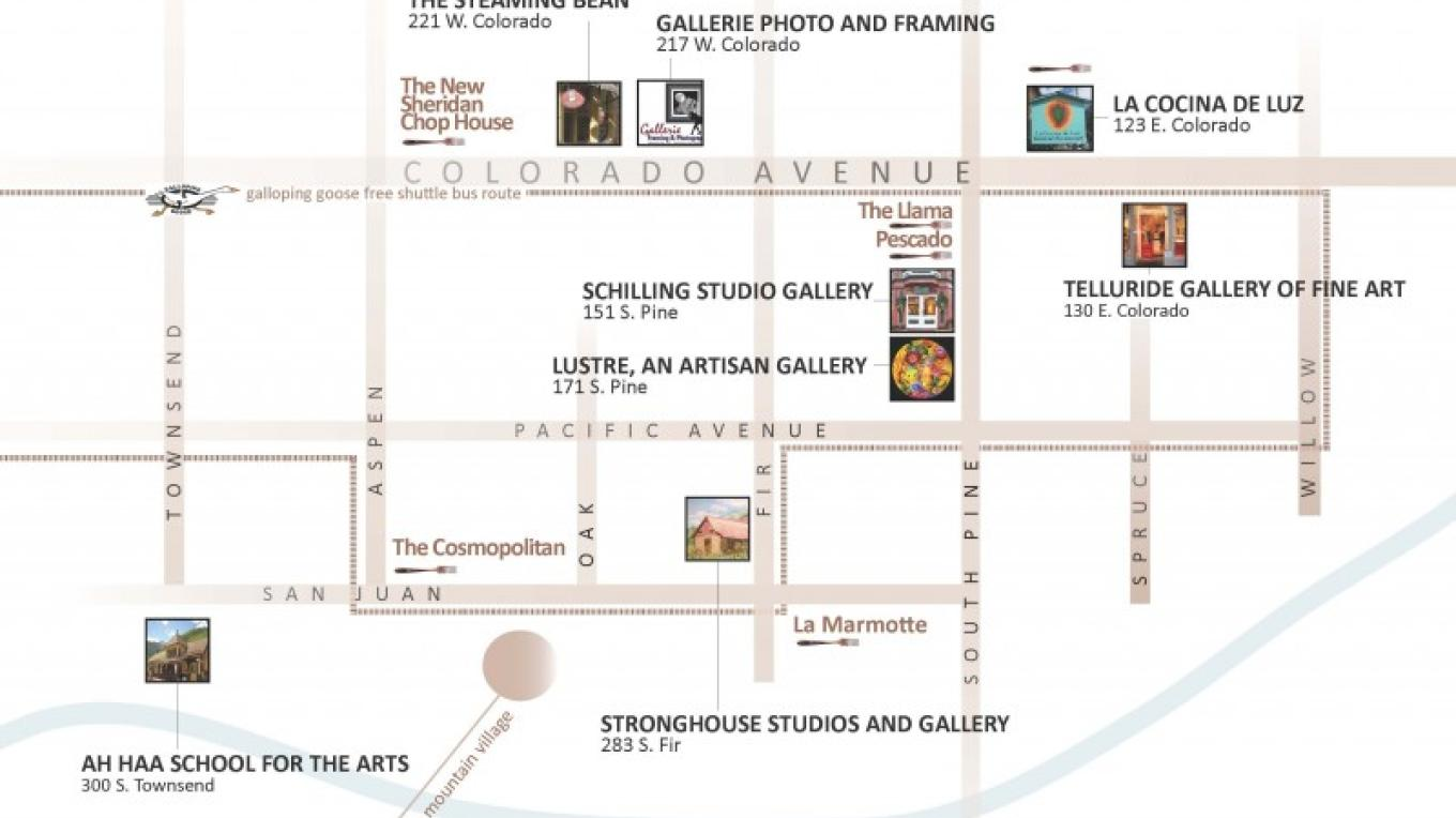 Art Walk brochure: Inside map