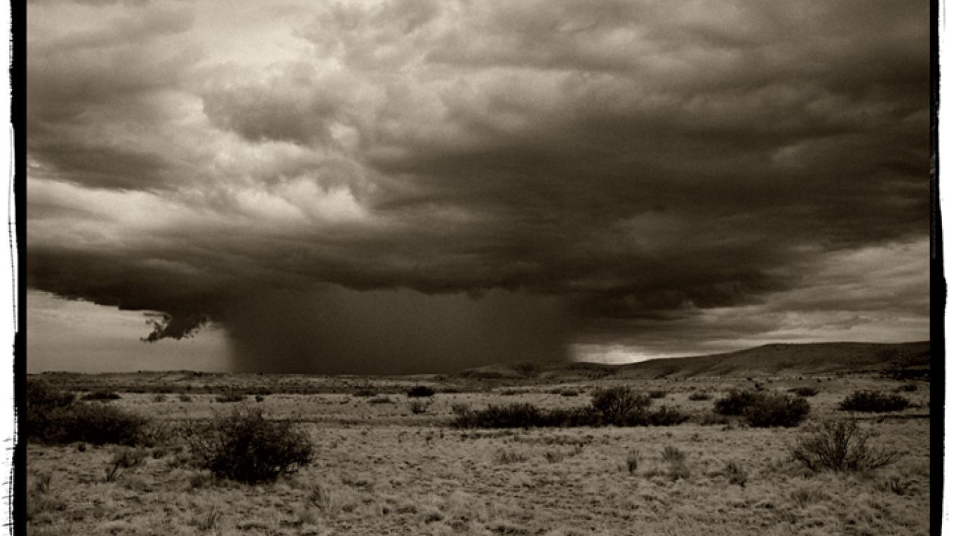 Rain Luna County platinum/palladium photograph – David Michael Kennedy