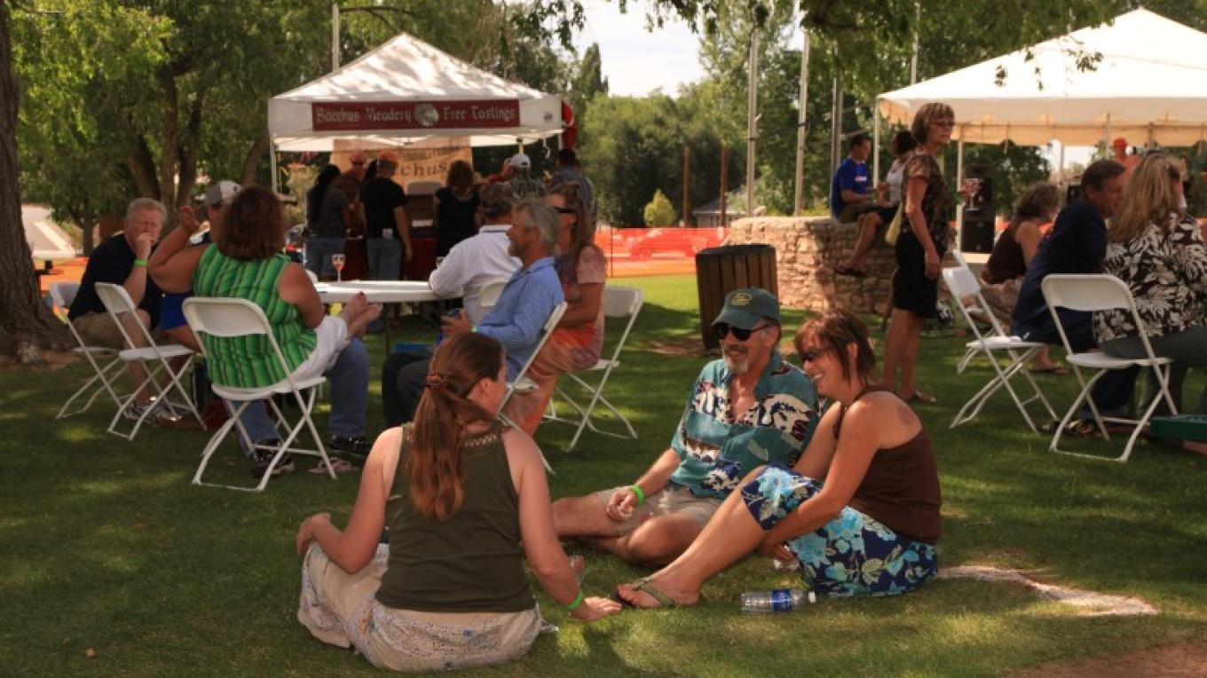Festival goers celebrate at the Mesa Verde Country Food, Wine, and Art Festival – Barbara Grist