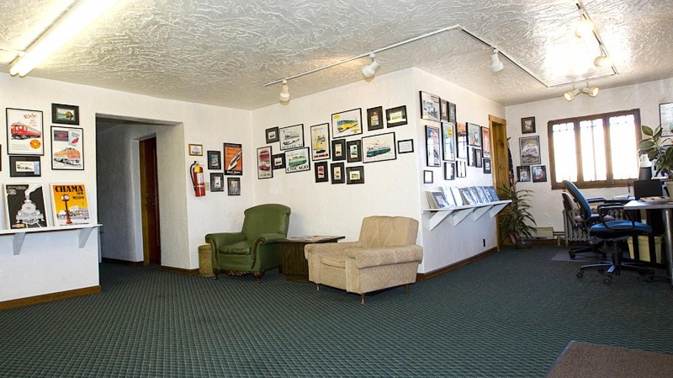 2nd Floor Lobby Which Is Now A Original Art Poster Gallery – Roger Hogan