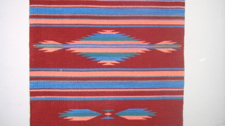 Colorful tapestry blanket. – Nancy
