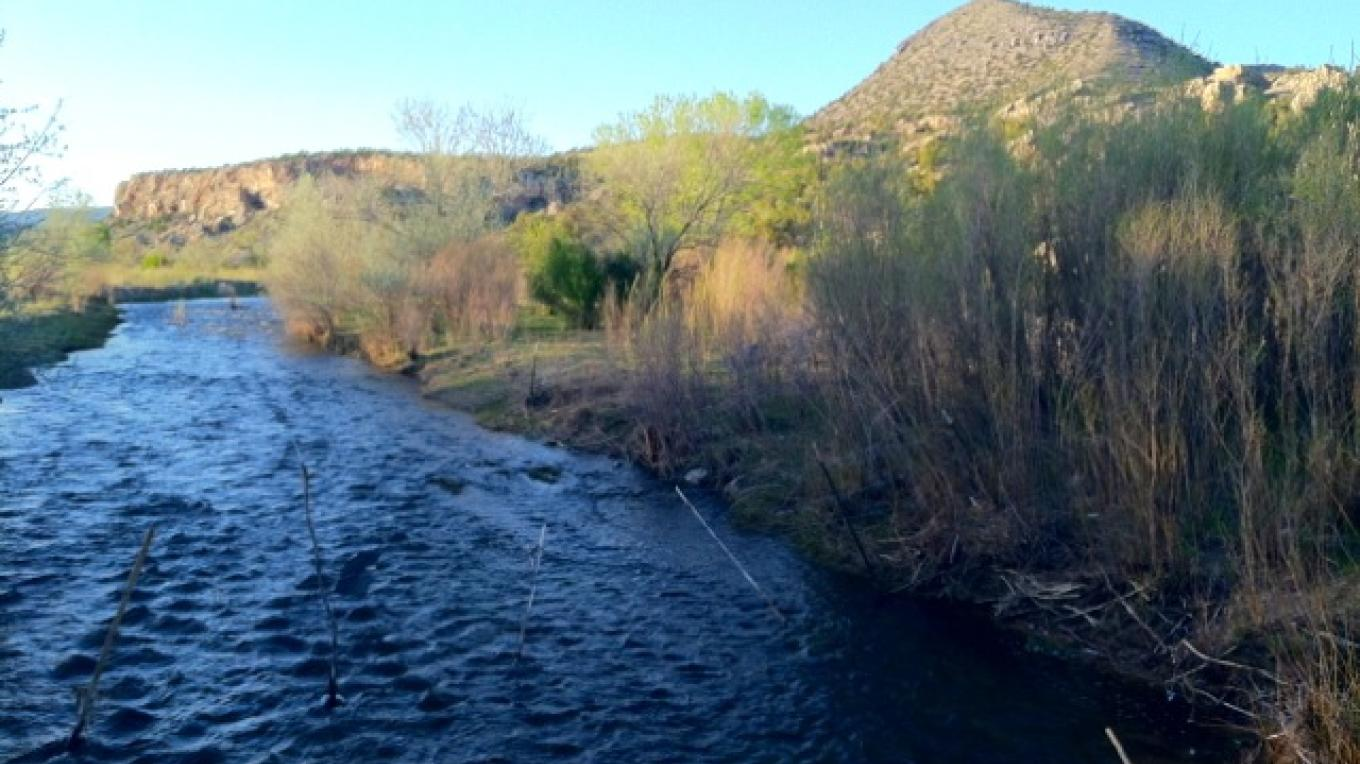 A mile of the Rio Ojo Caliente traverses our land. – H. Atterbury