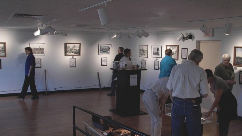Zuni Mountain Railroad Logging exhibit opening. – Eve Johnson