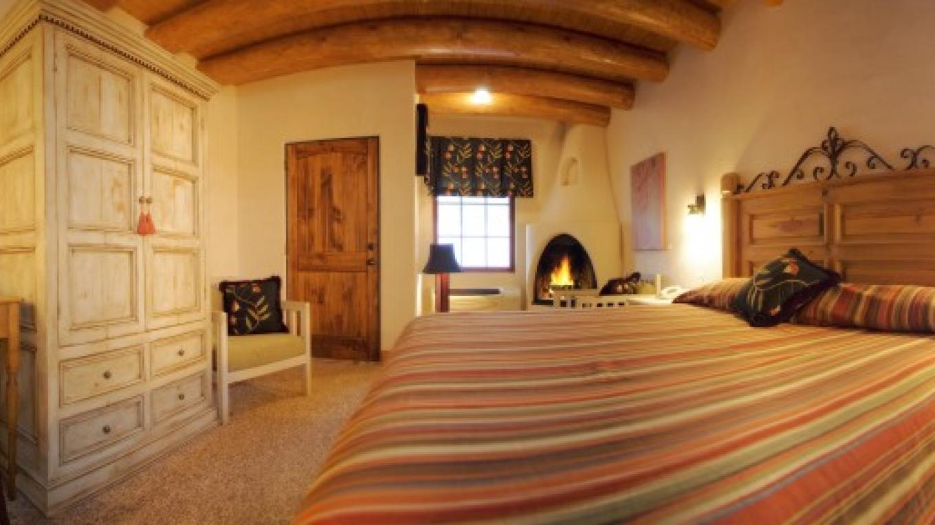 Room 405 in Helen's House at The Historic Taos Inn - Complete with Southwestern styling. – Lucas Cichon