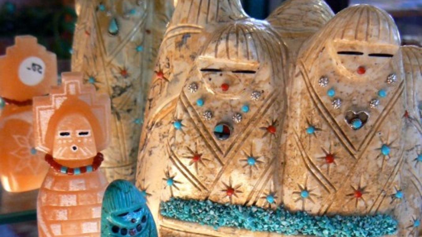 """Hand-carved stone """"Corn Maidens"""" from Zuni. – Tom R. Kennedy"""
