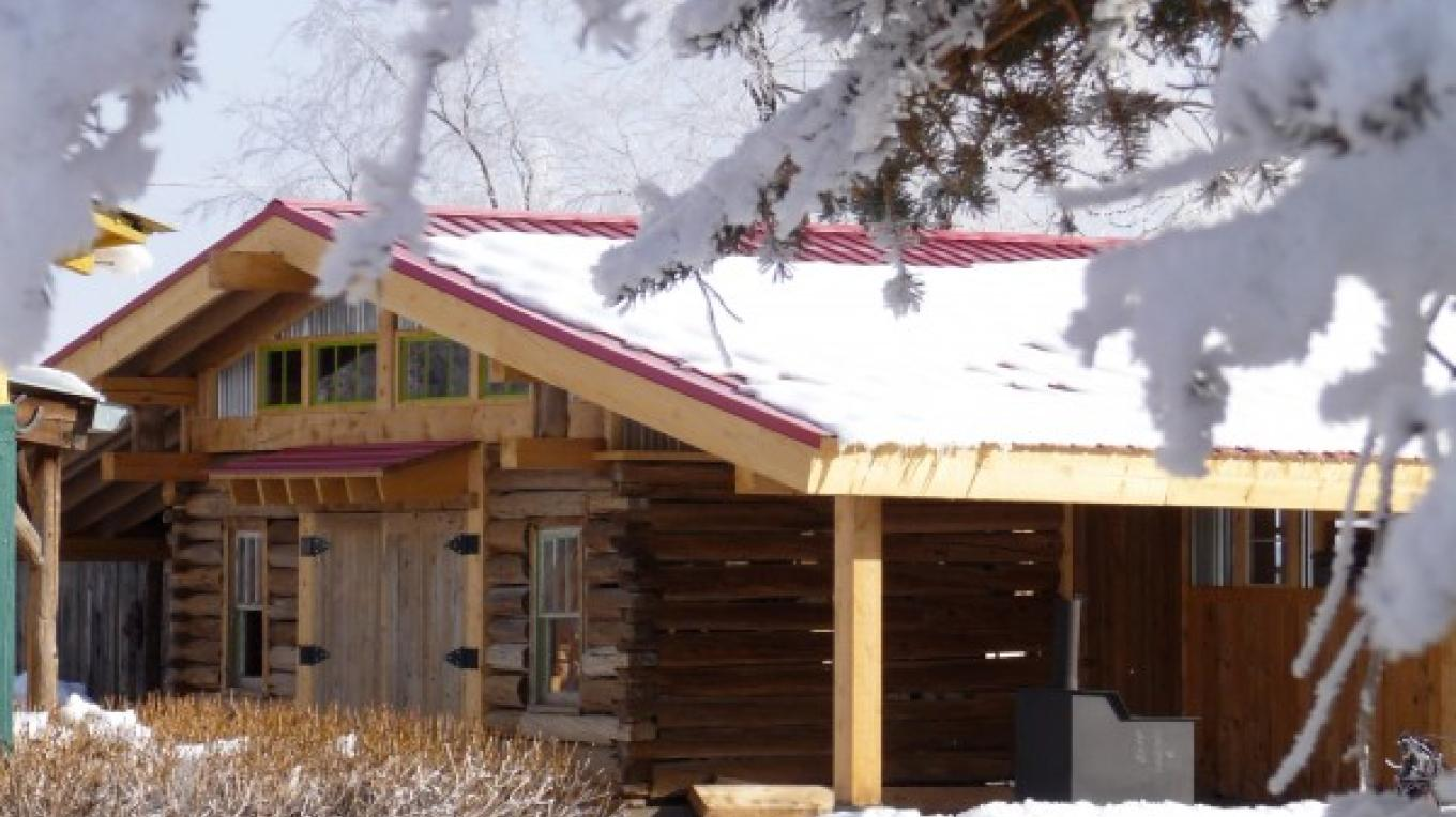 "Winter view of the ""Divide Riders Hostel"" – KimAnna Cellura-Shields"