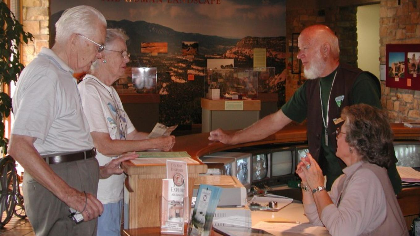 Visitors to Canyons of the Ancients National Monument receive information from friendly, knowledgable Anasazi Heritage Center volunteers – Bureau of Land Management--Anasazi Heritage Center