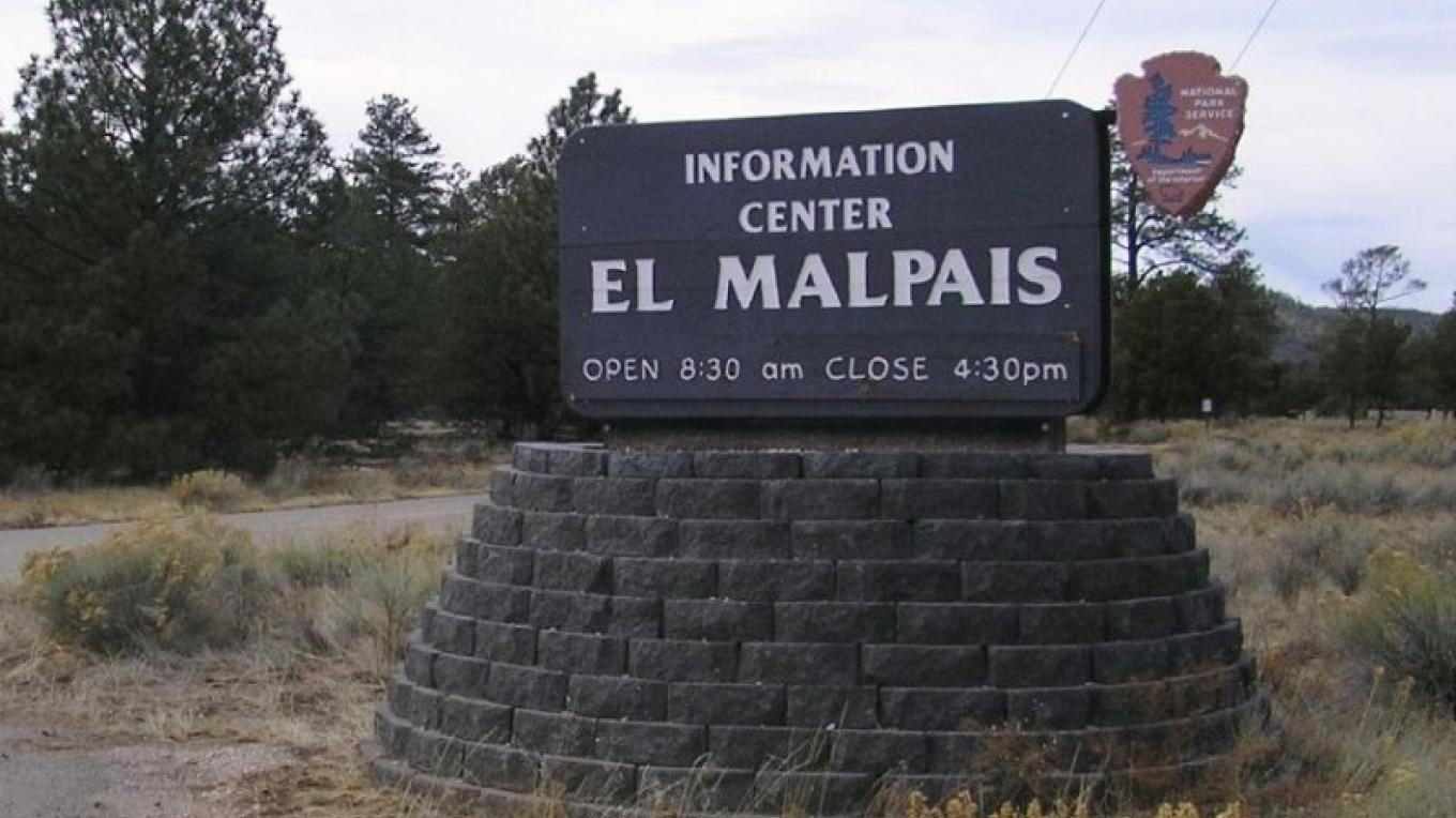 El Malpais Information Center road sign – nps.gov