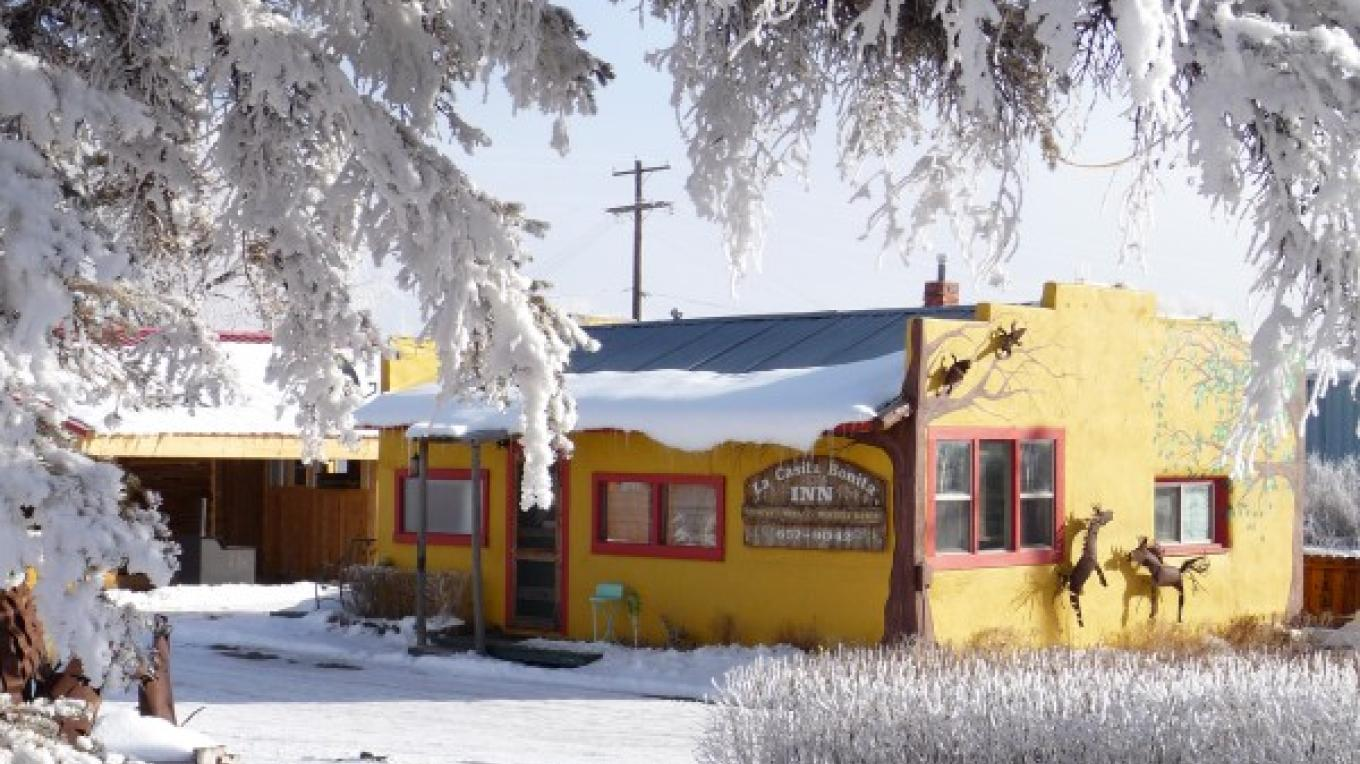 "Winter view of ""La Casita Bonita"" – KimAnna Cellura-Shields"