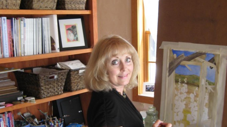 Karen at work in her studio.